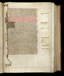 Illuminated Initial, In A Volume Of Paul The Deacon's 'Roman History' And Other Historical And Theological Works f.24r